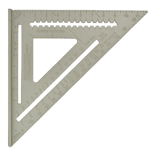 "Johnson Level 12"" Aluminum Rafter Angle Square RAS-120 ES4972"