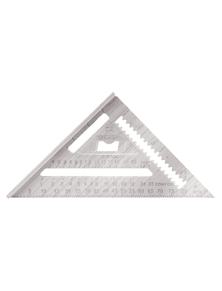 "Johnson Level 7"" Aluminum Rafter Angle Square RAS-1 ES4973"