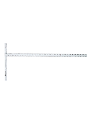 "Johnson Level 48"" Aluminum Drywall T-Square with Extra-Thick Blade JTS48HD ES4983"