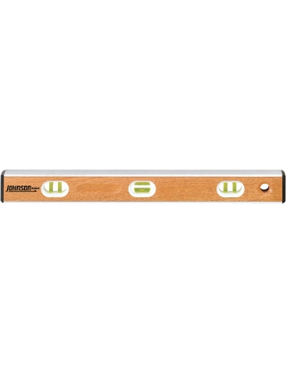 "Johnson Level 72"" Hardwood Aluminum I-Beam Level - IB72 ES5007"