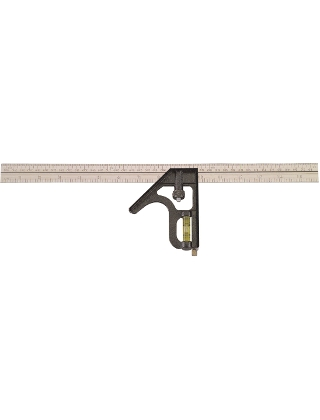 "Johnson Level 16"" Inch/Metric Heavy Duty Combination Square - 420EM ES5044"
