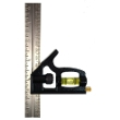 "Johnson Level 6"" Inch/Metric Professional Combination Square - 406EM ES5046"