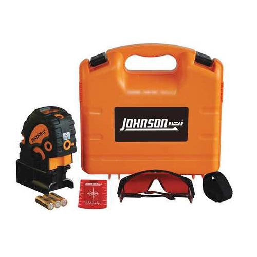 Johnson Level Self-Leveling Combination Cross-Line and 5 Beam Laser Dot without Detector- 40-6685