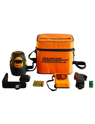 Johnson Level Self-Leveling 360 Degree Line Laser with 4 Horizontal Dots Kit 40-6639 ES5059