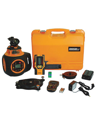 Johnson Level 40-6582 Electronic Self-Leveling Digital Dual Grade Horizontal & Vertical Rotary Laser Kit