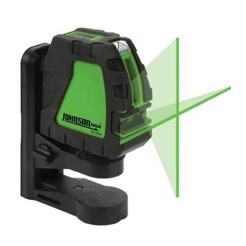 Johnson 40-6656 - Self-Leveling Cross-Line Laser with GreenBrite Technology ES7636
