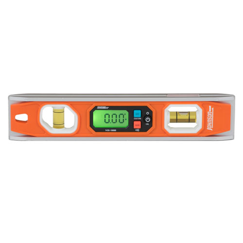 Johnson Level 10 inch Magnetic Programmable Digital Torpedo Level - 1435-1000D