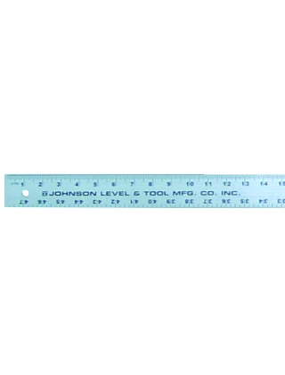 "Johnson Level 48"" Aluminum Straight Edge J48 ES4997"