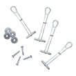 Kendall Howard Wall Mount Hardware Kit 0300-1-001-00 ES4430