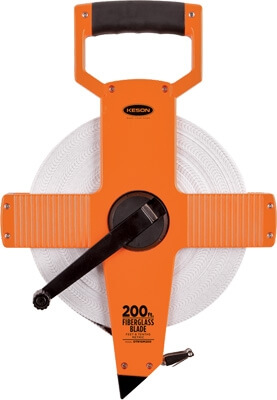 Keson OTR Series 200' Two-Sided Fiberglass Blade Measuring Tape