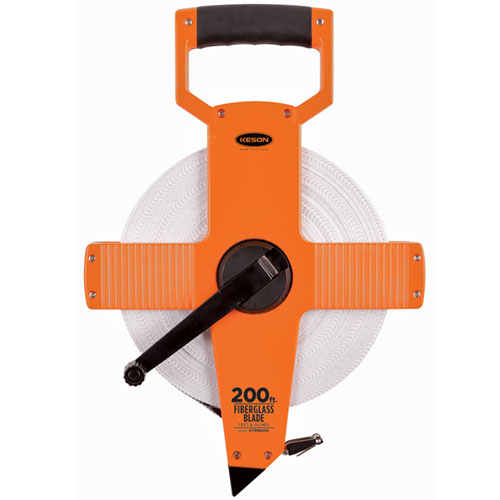 Keson OTR Series 200' Two-Sided Fiberglass Blade Measuring Tape (3 Models Available)
