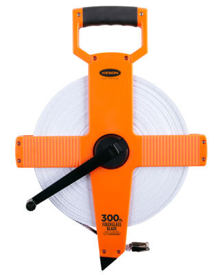 Keson OTR Series 300' Two-Sided Fiberglass Blade Measuring Tape
