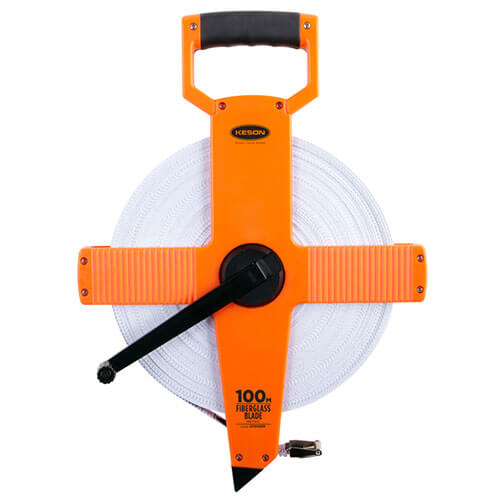 Keson OTR Series 100 Meter Two-Sided Fiberglass Blade Measuring Tape OTR100MM