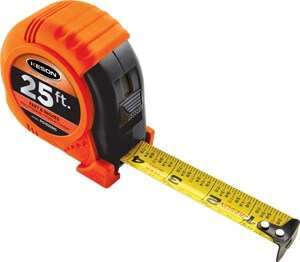 Keson Rubber Grip Series 25' Measuring Tape PG18M25RG