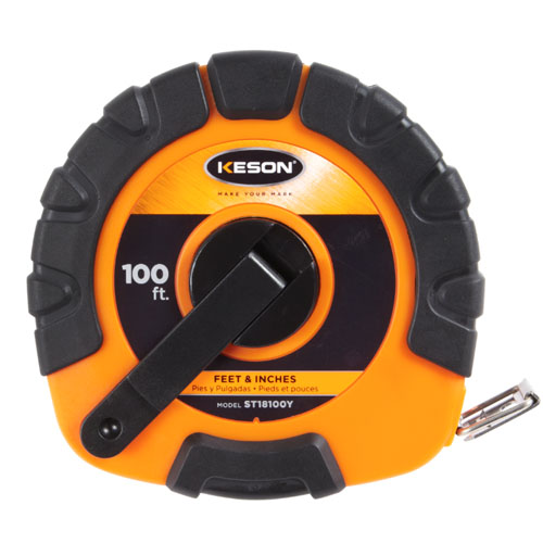 Keson STY Series 100' Blade Measuring Tape with Speed Rewind - ST18100Y