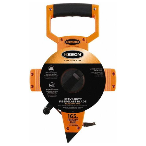 Keson OTR Series 165'/50m Two-Sided Fiberglass Blade Measuring Tape (2 Models Available)