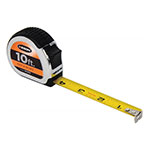 Keson Chrome Series 10'/3m Short Tape Measure - Feet, Inches, 8ths, 16ths and Metric - PG18M10 ET10238