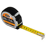 Keson Chrome Series 25'/7.5m Short Tape Measure - Feet, Inches, 8ths, 16ths, and Metric - PG18M25 ET10245