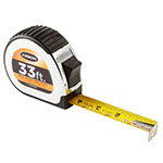 Keson Chrome Series 33' Short Tape Measure - Feet, 10ths, 100ths, and Inches, 8ths, 16ths - PG181033 ET10250