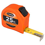 Keson Toggle Series 25 ft Short Tape Measure - Feet, 10ths, 100ths, and Inches, 8ths, 16ths - PGT181025V ET10262