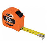 Keson Toggle Series 33 ft Short Tape Measure - Feet, 10ths, 100ths, and Inches, 8ths, 16ths - PGT181033V ET10265