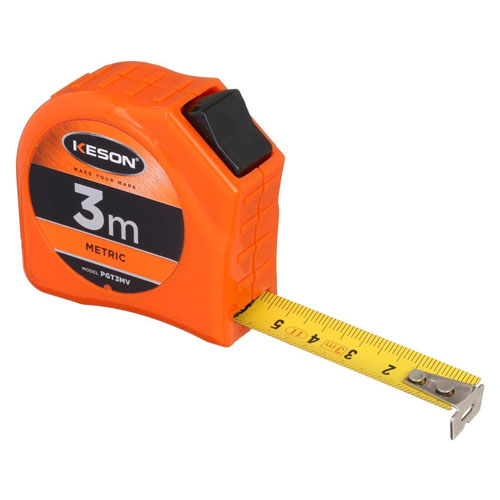 Keson Toggle Series 3m Short Tape Measure - Metric - PGT3MV