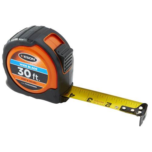 Keson 30 ft Wide Blade Short Tape - Feet, Inches, 18ths, 16ths - PG1830WIDEV
