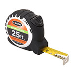 Keson 25 ft Autolock Short Tape - Feet, Inches, 10ths, 100ths, and 8ths, 16ths - PG181025AL ET10292