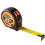 Keson 25ft Economy Series Short Tape - Feet, Inches, 8ths, 16ths - PG25 ET10306