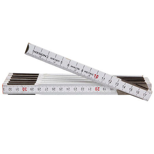 Keson Metric Wood Ruler - WR18M