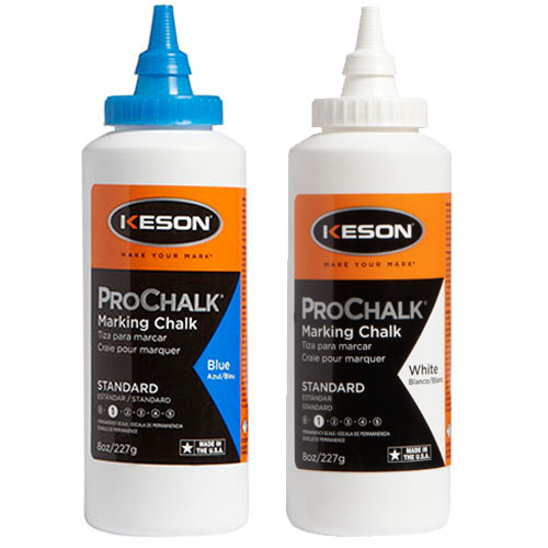 Keson 8 oz ProChalk Standard Marking Chalk - Case of 12 (2 Colors Available)
