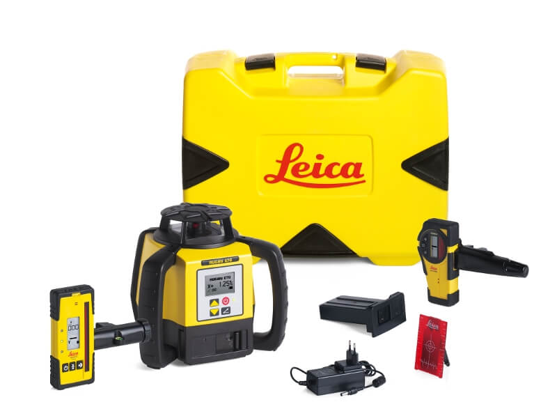Leica Rugby 670 Series Rotary Laser Kit ES5192