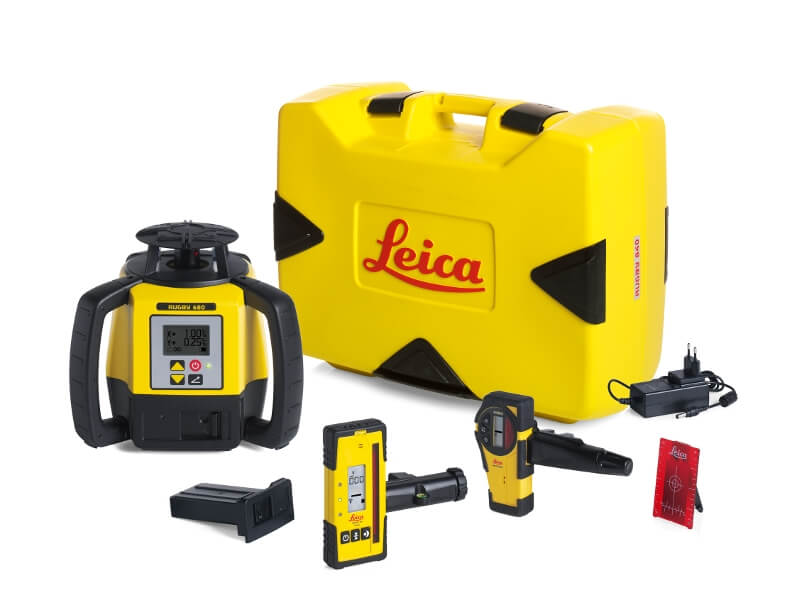 Leica Rugby 680 Series Rotary Laser Kit ES5193