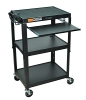 Luxor Adjustable Height Steel Cart with Pullout Keyboard Tray (3 Colors Available) ES4543