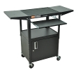 Luxor Cart w/ Pullout, Cabinet, Drop Leaf Shelves (5 Colors Available) ES4544