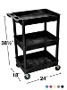 Luxor Tub Cart - Three Shelves - STC111 (5 Colors Available) ES4584
