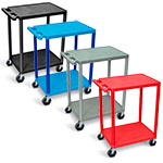 Luxor Utility Cart - 2 Shelves Structural Foam Plastic - HE32 (4 Colors Available) ES4592