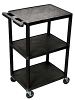 Luxor Utility Cart - 3 Shelves Structural Foam Plastic HE42 (2 Colors Available) ES4593