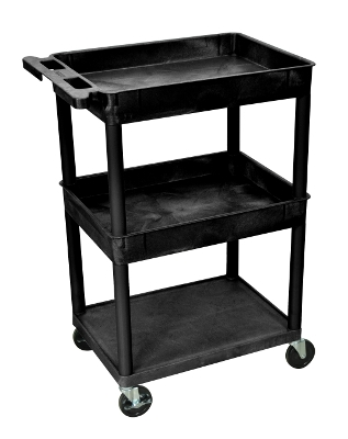 Luxor Top/Middle Tub & Flat Bottom Shelf Cart STC112 ES4594