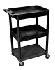 Luxor Top/Middle Tub & Flat Bottom Shelf Cart STC112 (5 Colors Available) ES4594