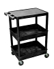 Luxor Flat Top and Tub Middle/Bottom Shelf Cart STC211 (9 Colors Available) ES4595