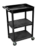 Luxor Tub Top & Flat Middle/Bottom Shelf cart STC122 (5 Colors Available) ES4598