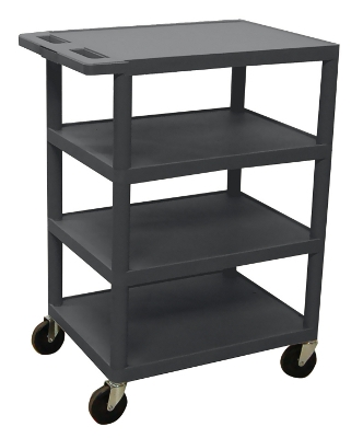 Luxor Four Flat Shelf Strutural Foam Plastic Cart BC45 ES4599