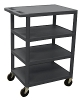 Luxor Four Flat Shelf Structural Foam Plastic Cart BC45 (4 Colors Available) ES4599