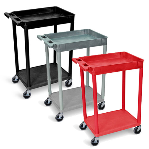 Luxor Top Tub and Bottom Flat Shelf Cart - STC12 (3 Colors Available)