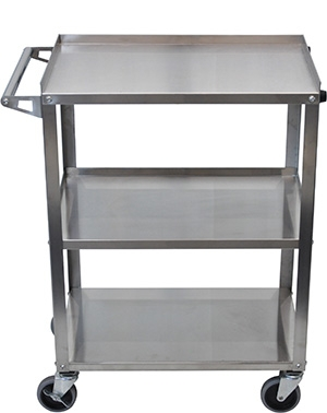 Luxor Stainless Steel 3 Shelf Cart SSC-3