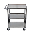 Luxor Stainless Steel 3 Shelf Cart SSC-3 ES4904