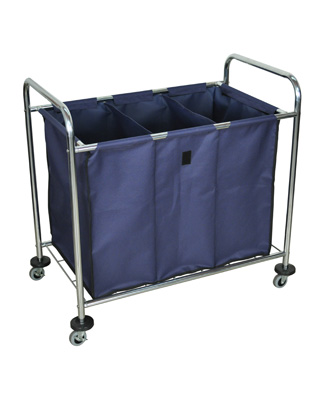 Luxor Industrial Laundry Cart With Dividers - HL15 ES5989