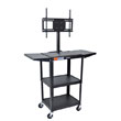 Luxor Adjustable Height Steel A/V Cart - AVJ42DL-LCD - LCD Mount, Drop Leaf ES6407