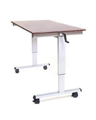 "Luxor STANDUP-CF48-DW - 48"" Crank Adjustable Stand Up Desk ES6669"